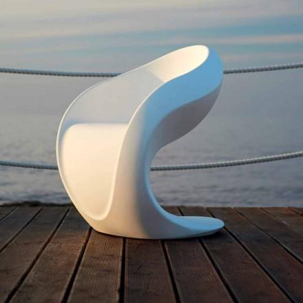 Interner oder externer Design-Sessel aus weißem Polyethylen - Petra von Myyour
