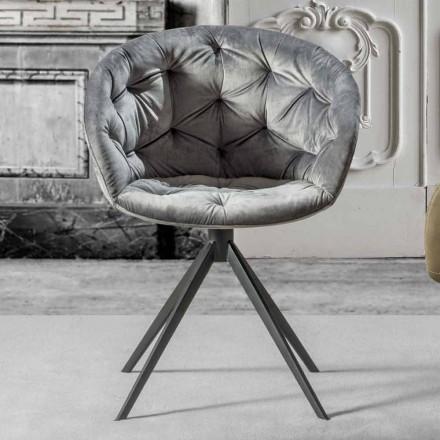 Sessel in modernem Design in Capitonnè Finish - Enea