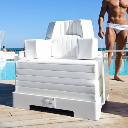 Trona Luxury Schwimmsessel weiß im Design, made in Italy