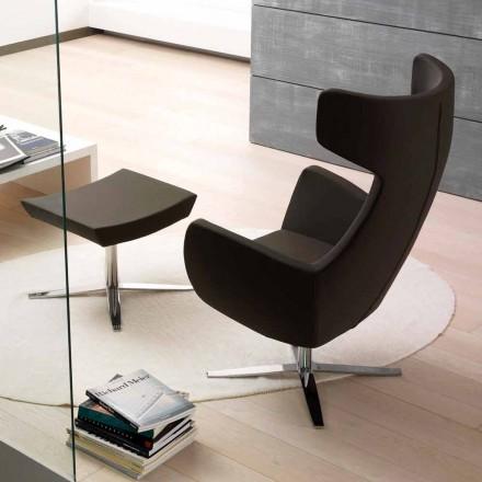 Sessel aus Kunstleder mit Drehsockel verchromt oder schwarz - Clio
