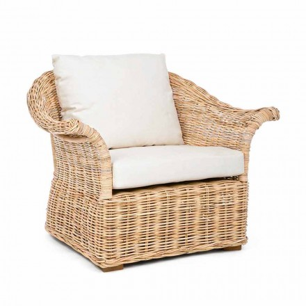 Homemotion - Fermin Ethnic Style Indoor- oder Indoor-Rattansessel