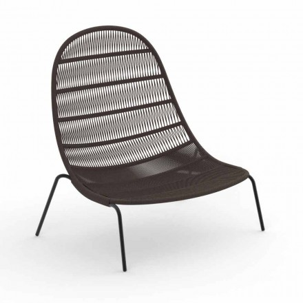 Garden Lounge Sessel aus Aluminium und Stoff - Panama von Talenti