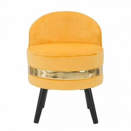 Moderner farbiger Mini-Sessel aus Holz und Stoff - Koah