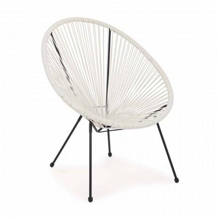 Outdoor-Sessel mit modernem Design aus lackiertem Stahl - funkelnd