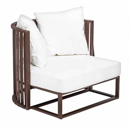 Outdoor-Sessel in Aluminium und Luxus Design Seile 3 Oberflächen - Julie