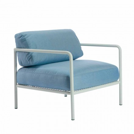 Outdoor-Sessel mit Stoff- und Metallarmlehnen Made in Italy - Cola