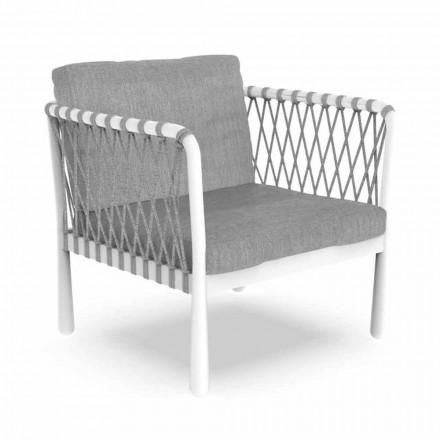 Moderner Outdoor-Sessel aus Aluminium und Stoff - Sofy von Talenti