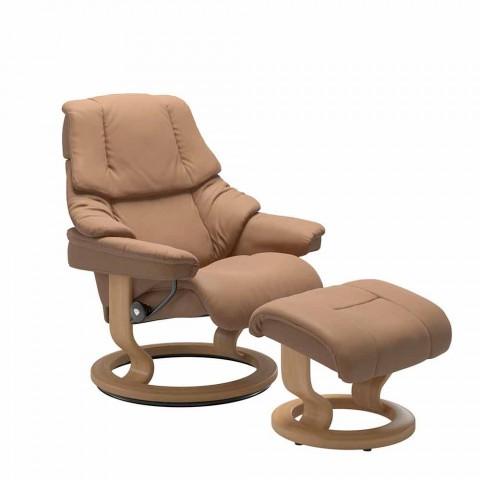 Stressless Sessel Mit Verstellbarer Kopfstutze Und Ottomane Leder