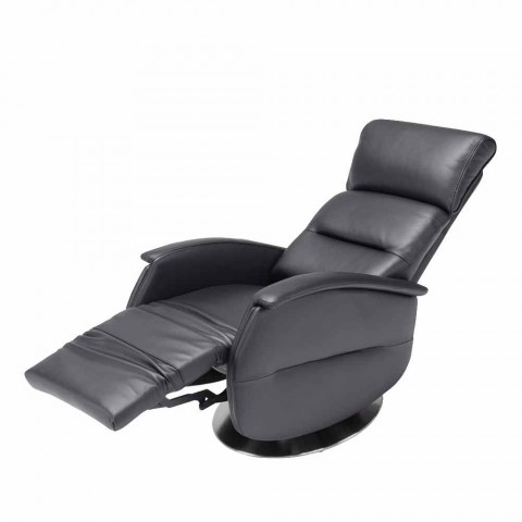 Motorisierte Schwenk Sessel Entspannung im Stoff / Leder / Kunstleder Gemma