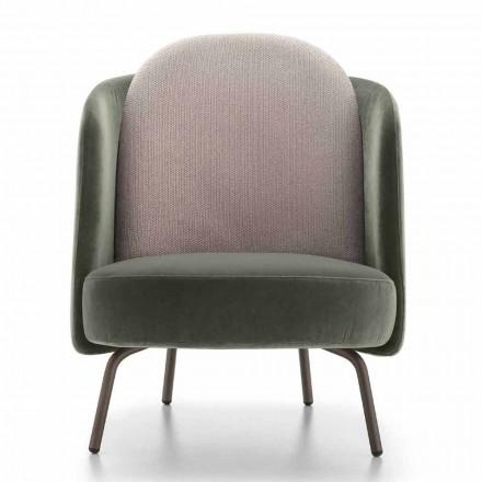 Wohnzimmer Sessel in Stoff bezogen mit Metallbasis Made in Italy - Ribes