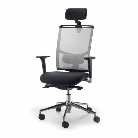 Bürostuhl aus Leder in modernem Design Mina
