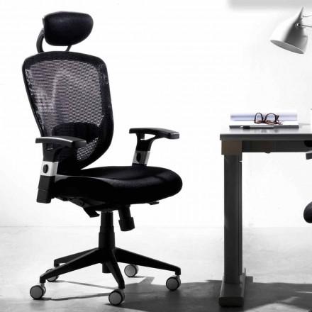 Richtungs- und Funktionsdrehender moderner schwarzer Stuhl - Simona