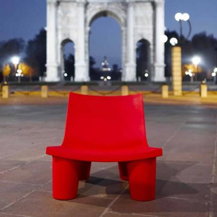 Farbiger Outdoor- / Indoor-Sessel Slide Low Lita in Italien hergestellt