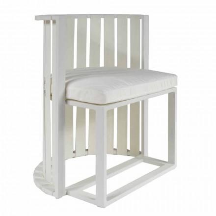 Outdoor Dining Armchair in Aluminium und Luxus Design Seile - Julie