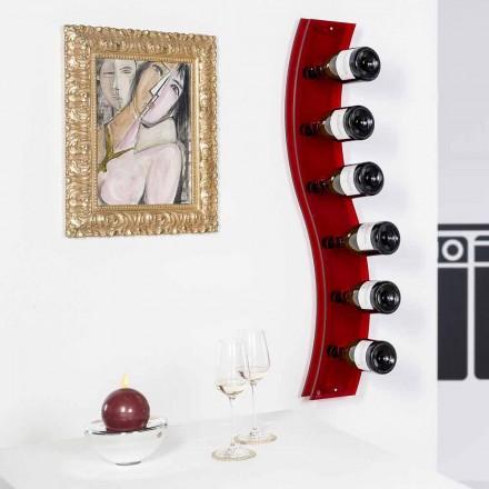 Design Wandflaschenhalter L26.5xH100xP9cm Serry rot