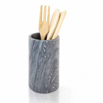 Küchenwerkzeughalter aus weißem grauem oder schwarzem Marmor Made in Italy - Tulvio
