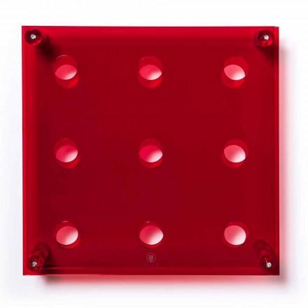 Wandregal Amin Big L45xH45xP13,6cm transparent rot