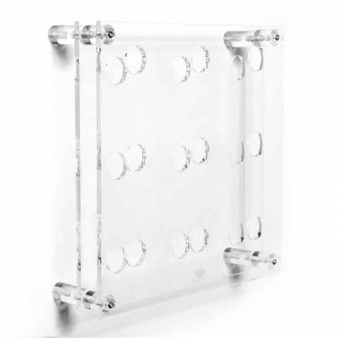 Amin Großer transparenter Wandflaschenhalter L45xH45x13,6cm