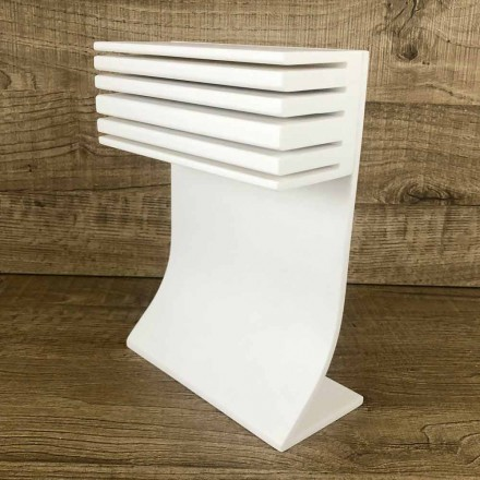Küchenmesserhalter aus weißem Corian Kitchen Elegantes Design - Ivanova