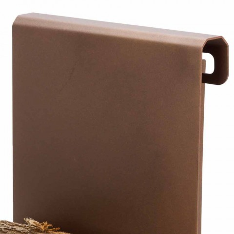 Innenholzhalter aus Stahl Made in Italy, Steinbock