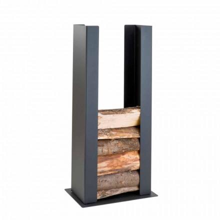 Kaminholzständer aus Stahl PLDU, für den Innenbereich Caf Design