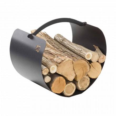 Holzhalter Kaminholz mit hochwertigem Griff Made in Italy - Espero