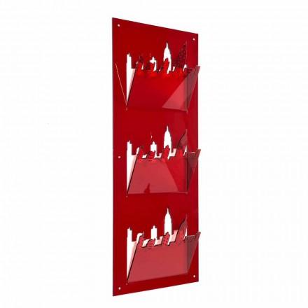 Wandzeitungsständer mit drei Fächern aus Plexiglas Made in Italy - Filarino