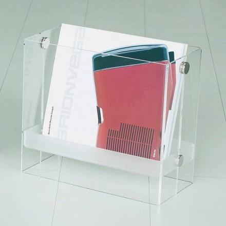 Zeitschriftenständer aus modernem Design in transparentem Tanko-Methacrylat