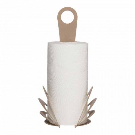 Handgemachter Küchenhandtuchrollenhalter aus Eisen, Made in Italy - Futti