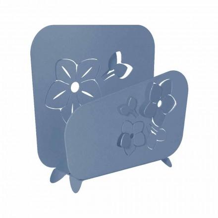Hochmoderner Blumen Serviettenhalter aus Edeleisen handgefertigt - Marken