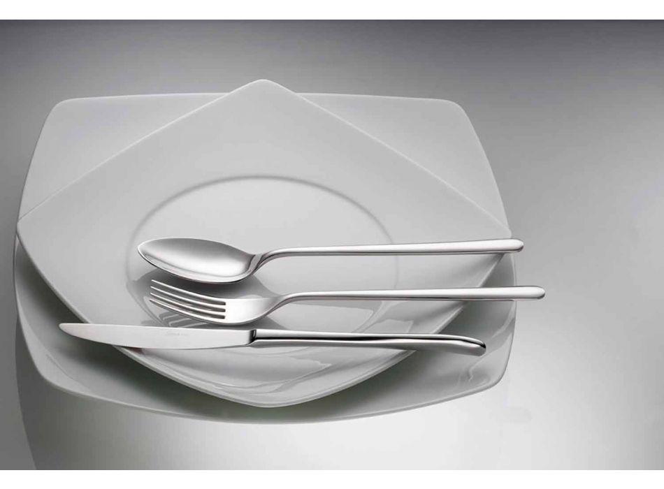 24 Stück Luxusbesteck aus poliertem oder sandgestrahltem Edelstahl - Lapis