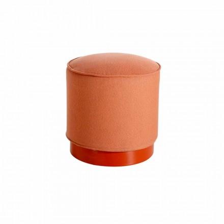 Sitzpuff für den Außenbereich, aus Polyethylen und Stoff oder Leder - Mara Slide