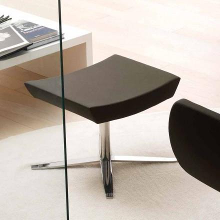 Moderner Sitzpuff aus Ecopelle und Aluminium für Office - Clio