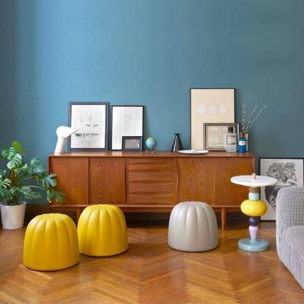 Farbiger weicher Sitzpuff aus Polyurethan Slide Gelee, hergestellt in Italien