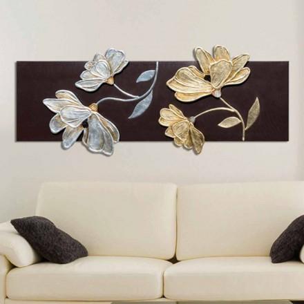 Bild in modernem Design mit Blumen handdekoriert Herman