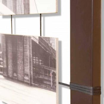 Rahmen mit hängenden Platten von Hand dekoriert Seile Mark