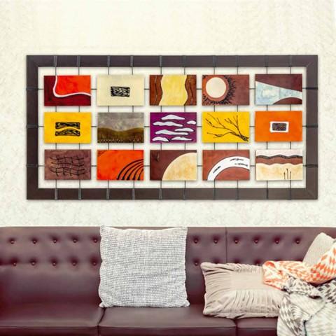Moderne Malerei komplett mit geprägtem Platten an Seilen aufgehängt Wise