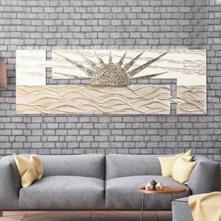Modernes Gemälde handgefertigt Made in Italy Dan