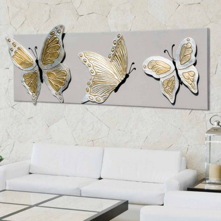 Bild modern mit Schmetterlingen handdekoriert Stephen