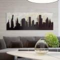 Bild in modernem Design Manhattan von Hand gefertigt Donald