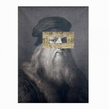 Bedrucktes Leinwandbild mit Blattgold-Detail Made in Italy - Vinci