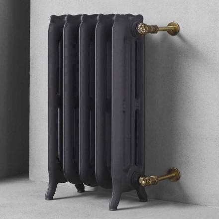Design Radiator 5 Glatte Elemente aus Gusseisen vom Boden bis 1062 W - Barock
