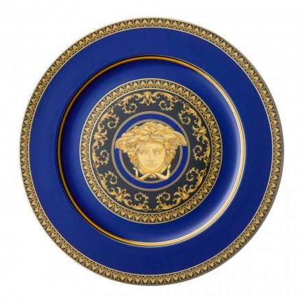 Rosenthal Versace Medusa Blue Plate Platzhalter aus Porzellan Design