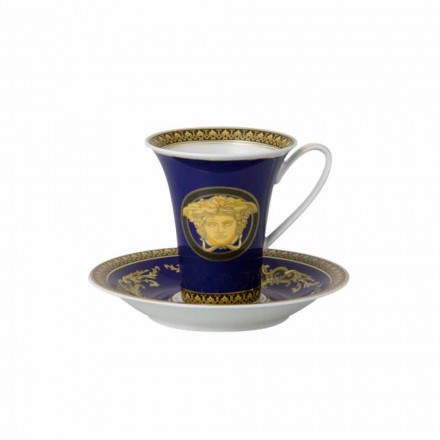 Rosenthal Versace Medusa Blue Große Kaffeetasse aus Porzellan