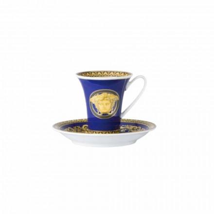 Rosenthal Versace Medusa Blue Porzellan Design Kaffeetasse