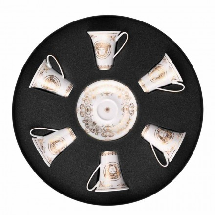 Rosenthal Versace Medusa Gala Set Espressotassen 6 Stück in Porzellan