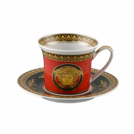 Rosenthal Versace Red Medusa Espressotasse in Porzellandesign