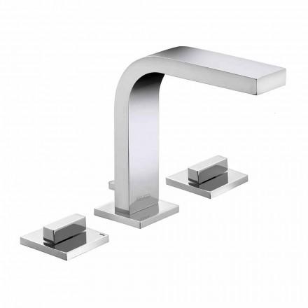 Luxus Design Messing 3-Loch Waschbecken Wasserhahn - Etto