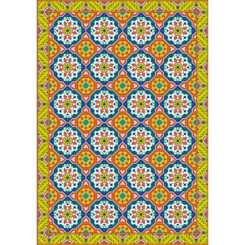 Coloured Design Table Runner aus PVC und Polyester mit Fantasy - Meriva