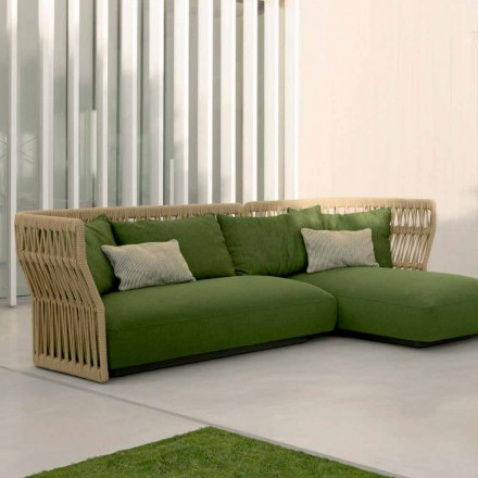 Cliff Talenti Outdoor Lounge mit Sofa und Couchtischen, Design Palomba